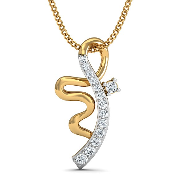 Fine Necklace & Pendant 0.1 Ct Natural Certified Diamond Festive