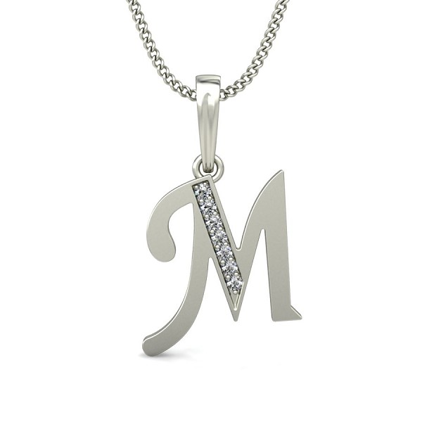 Initial pendant necklace 004 ct diamond letter necklace gold initial pendant necklace 004 ct diamond letter necklace gold natural certified aloadofball Choice Image