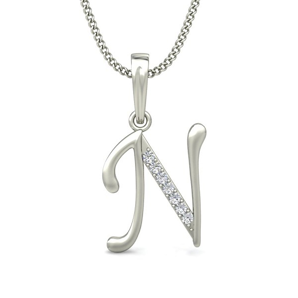 Initial necklace 004 ct solid gold diamond initial pendant initial necklace 004 ct solid gold diamond initial pendant natural certified aloadofball Images