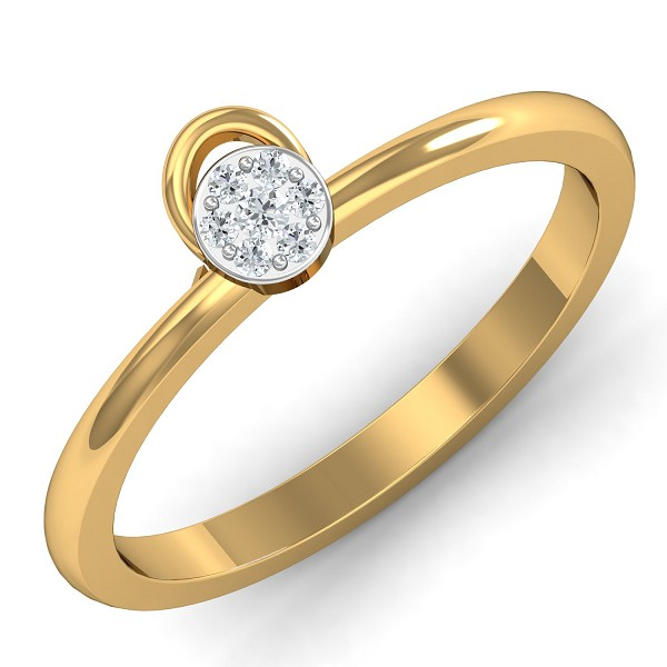Gold And Diamond Rings 0.07 Ct Natural Certified Everyday