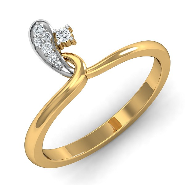 Diamond Ring Designs 0.07 Ct Natural Certified Solid Gold Special Occasion