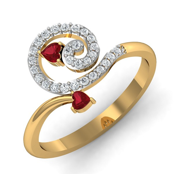 Diamond Ring Design 0.16 Ct Natural Certified Solid Gold Office Wear