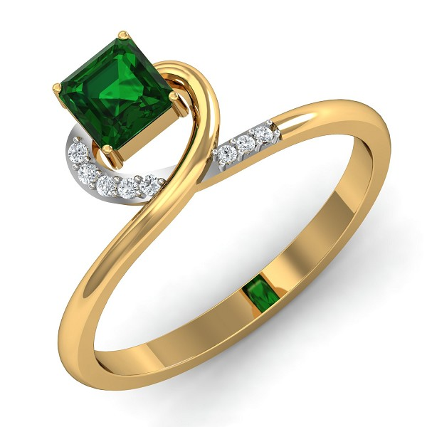 Diamond Rings For Sale 0.05 Ct Natural Certified Solid Gold Festive