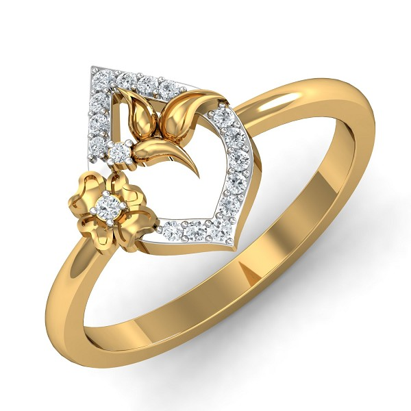 Diamond Rings For Sale 0.12 Ct Natural Certified Festive
