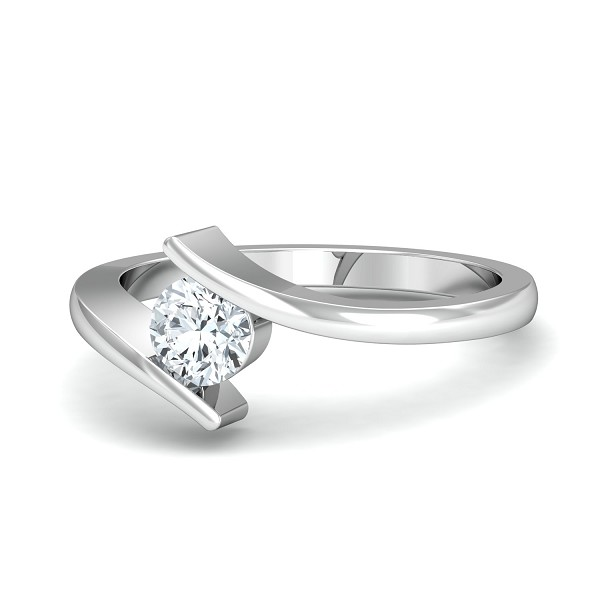 Diamond Ring Designs 0.5 Ct Natural Certified Solid Gold Special Occasion
