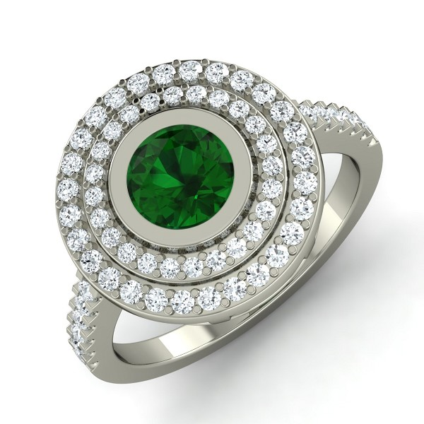 Emerald Rings For Women 0.57 Ct Natural Certified Solid Gold Weekend