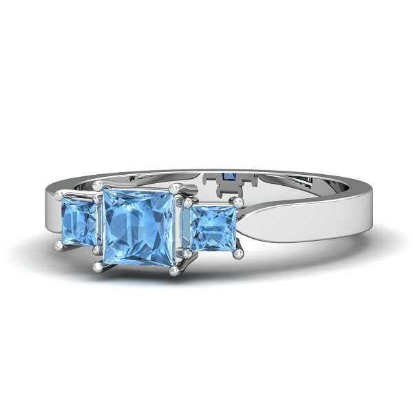 Diamond Aquamarine Ring Designs Ct Natural Certified Solid Gold Special Occasion
