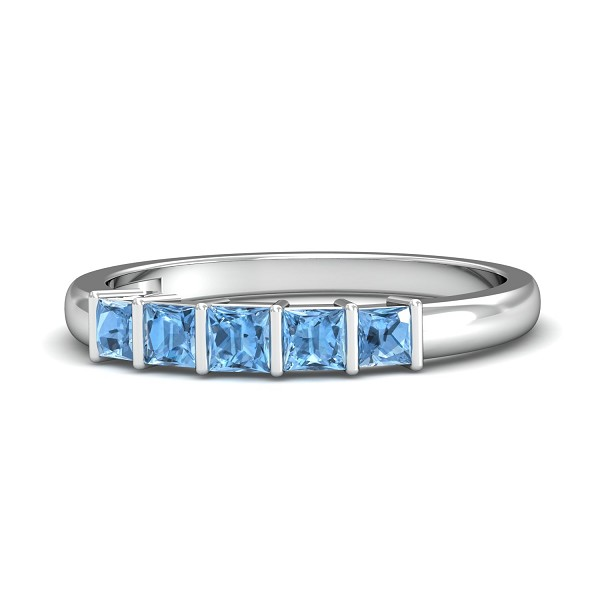 Aquamarine Diamond Rings Ct Natural Certified Solid Gold Everyday