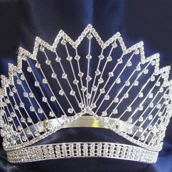 16.04ctw ROUND DIAMOND 14K WHITE YELLOW GOLD WEDDING ANNIVERSARY TIARA CROWN