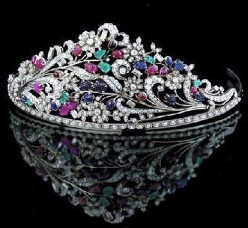 12.50ct DIAMOND GEMSTONE 14k WHITE GOLD WEDDING ANNIVERSARY TIARA CROWN