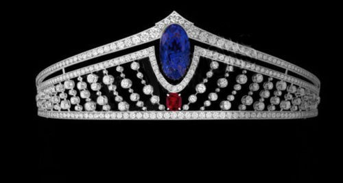 13.80ct NATURAL DIAMOND GEMSTONE 14K WHITE GOLD WEDDING ANNIVERSARY TIARA