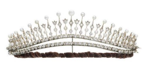5.70CT NATURAL DIAMOND 14K WHITE GOLD WEDDING ANNIVERSARY BRIDAL TIARA