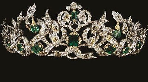 Tiaras And Crowns 6.85 Ct Natural Certified Diamond Emerald Sterling Silver Bridal Headpieces