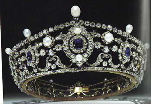 Princess Tiaras And Crowns 15.7 Ct Natural Certified Diamond Pearlandblue Sapphire Sterling Silver Head Pieces