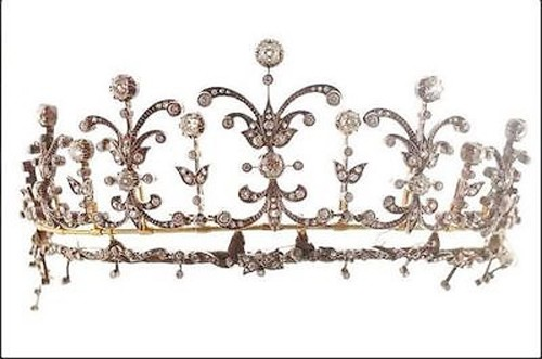 Certified Diamond Tiara 10 Ct Natural Certified Diamond Sterling Silver Victorian Inspried