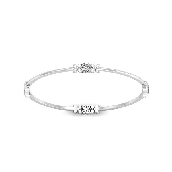 Diamond Eternity Bangle 0.48 Ct Solid Gold Vacation