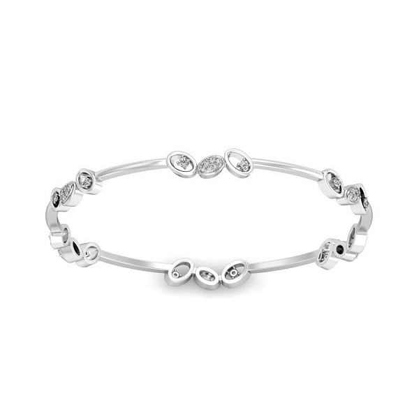 Single Bangle Designs 0.408 Ct Natural Diamond Solid Gold Everyday