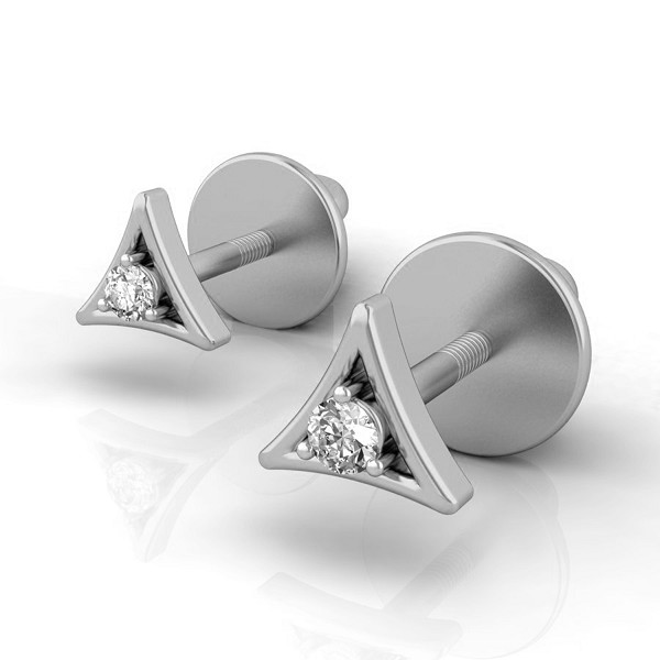 Diamond And Gold Earrings 0.06 Ct Natural Diamond Solid Gold Vacation