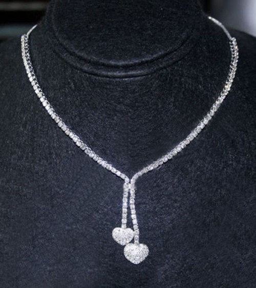 Diamond Tennis Necklace 12 ct Natural Diamond Solid Gold Single Line Certified