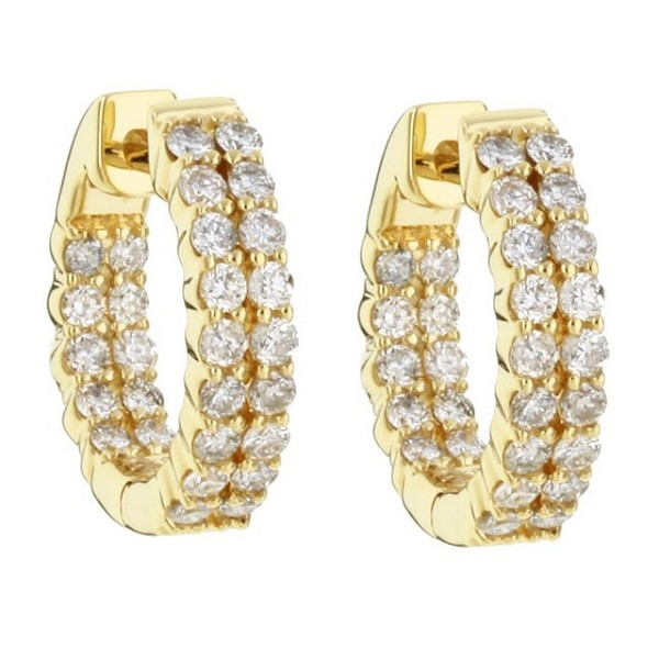 Diamond hoops Earrings 1.00 ct 18k Natural Certified Solid gold Hot Deal