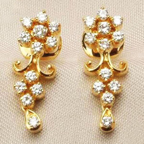 Designer Earrings 0.50 ct Diamond 18k Natural Certified Solid gold Hot Deal