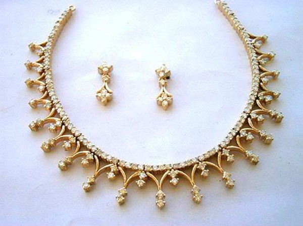 Diamond Necklace Set Design 5.00 ct Natural Diamond 18k solid gold Wedding jewelry Set Certified