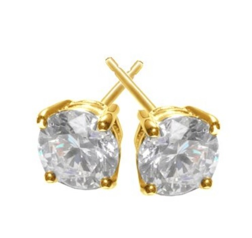 Solitaire Diamond Studs 1.00 ct 18k Natural Certified Solid gold Hot Deal