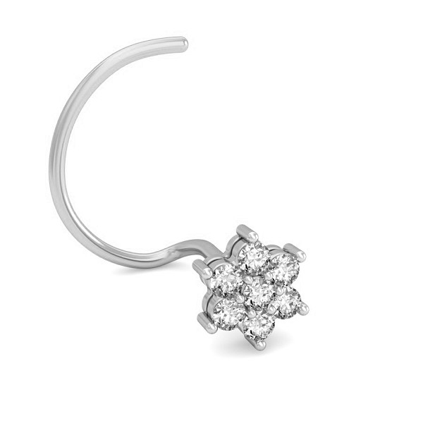 Diamond Nose Stud 0.105 Ct Natural Diamond Solid Gold Festive