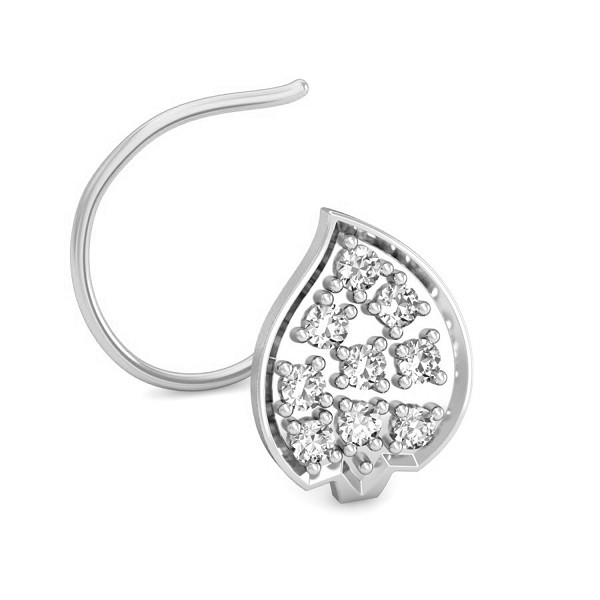 Diamond Nose Ring 0.09 Ct Natural Diamond Solid Gold Occasion