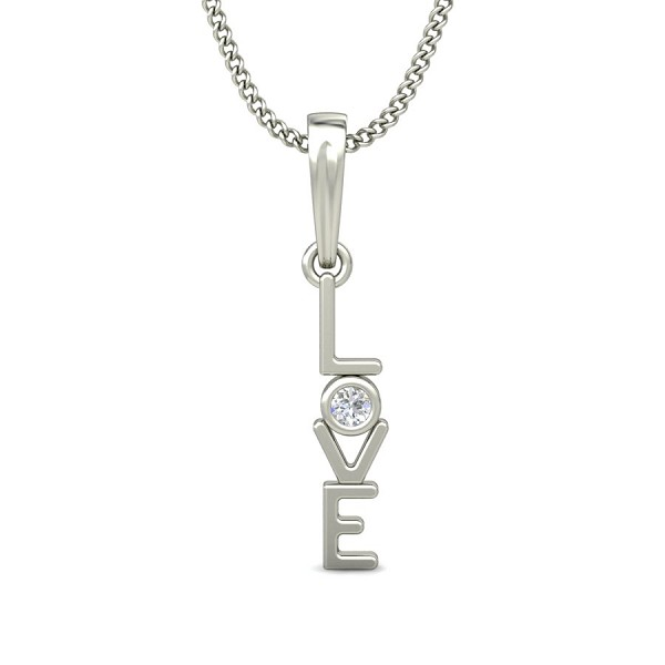 Diamond Heart Pendant 0.03 ct Valentine Necklace Solid Gold Natural Certified