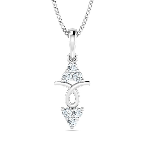 Diamond Pendant Necklace 0.15 Ct Natural Certified Solid Gold Office Wear