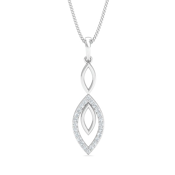 Diamond Pendant 0.12 Ct Natural Certified Solid Gold Workwear