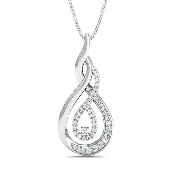 Diamond Necklace & Pendant 0.25 Ct Natural Certified Solid Gold Weekend