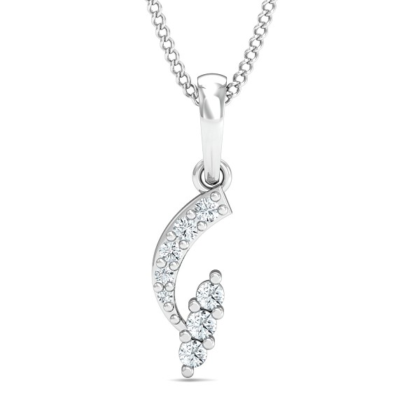 Fine Necklace & Pendant 0.08 Ct Natural Certified Diamond Party