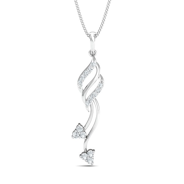 Fine Necklace & Pendant 0.21 Ct Natural Certified Diamond Festive