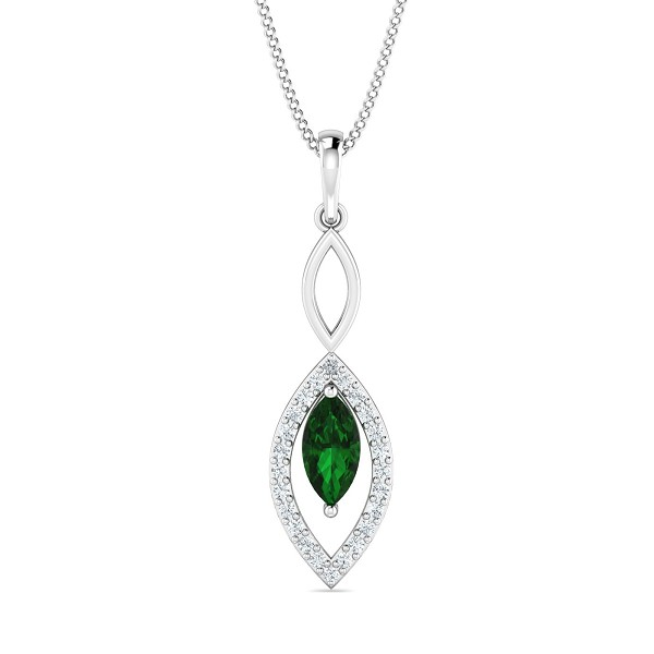 Gold Pendant Necklace 0.12 Ct Natural Certified Diamond Workwear