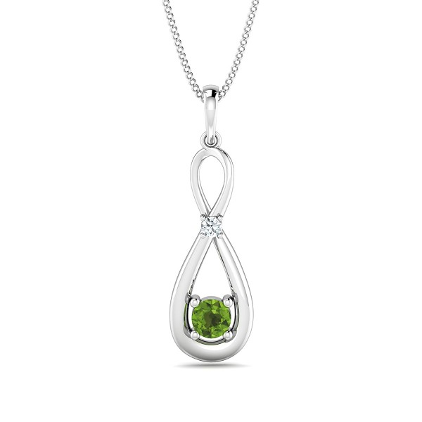 Gold Pendant 0.03 Ct Natural Certified Diamond Office Wear