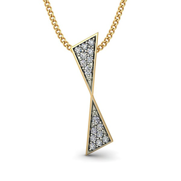 Gold Diamond Pendant 0.088 Ct Natural Diamond Solid Gold Vacation