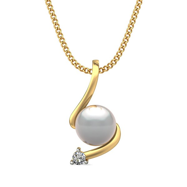 White Gold Pendant 0.78 Ct Natural Diamond Solid Gold Special Occasion