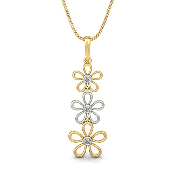 White gold pendant 0075 ct natural diamond solid gold festive aloadofball