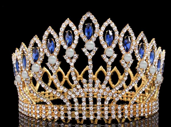 Princess Tiaras And Crowns Natural Certified Diamond 50 Ct Solid Gold Crown