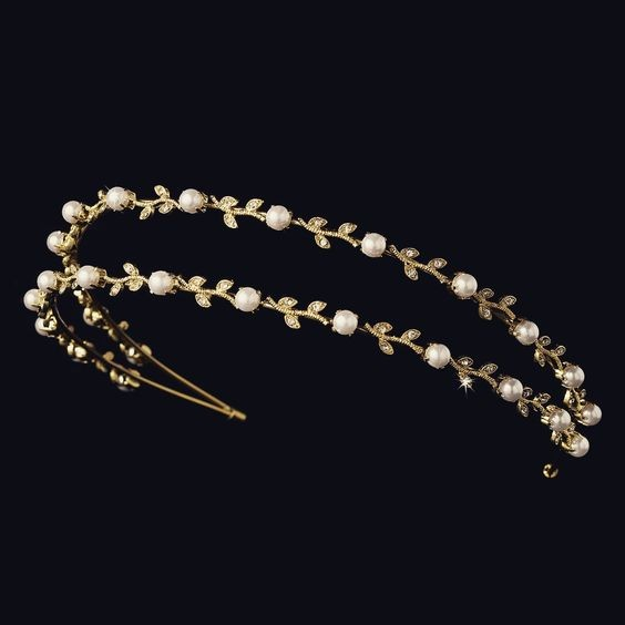 Head Pieces Natural Certified Diamond 1.5 Ct Solid Gold Bridal Hair Accessories