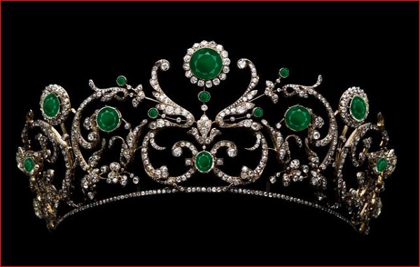 Tiara Online Natural Certified Diamond Emerald 11.5 Ct Sterling Silver Hair Accessories