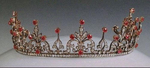 Head Pieces Natural Certified Diamond Ruby 8.75 Ct Sterling Silver Hair Accessories