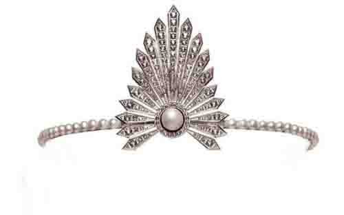 Tiara For Sale Natural Certified Diamond Pearl 2.2 Ct Sterling Silver Hair Accessories