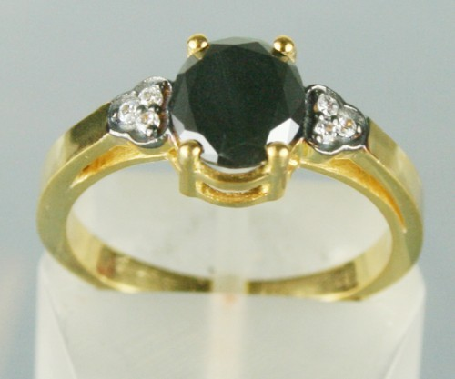 Black and White Diamond Engagement Rings 1.26 Ct Black & White Diamond Oval Shape Sterling Silver Solitaire