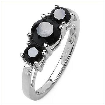Black Diamond Rings 2.30 Carat Solitaire Diamond Wedding Anniversary Solid Gold