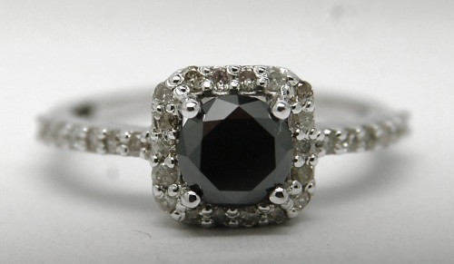 Black Diamond 2.47 Carat Solitaire Diamond Ring For Anniversary Gift  Solid Gold