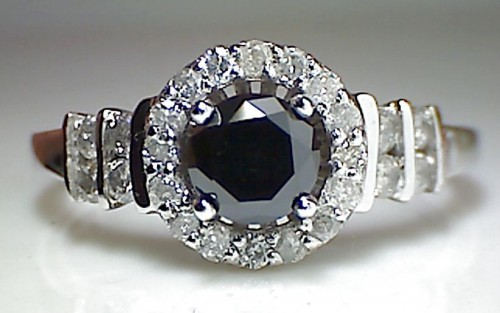 Black diamond Ring 2.30 Carat Diamond Solitaire Wedding Anniversary Solid Gold