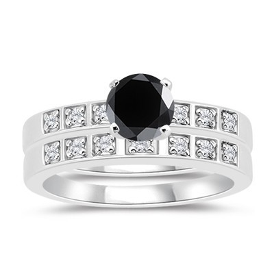 Black Diamond Rings 2.45 Ct Solitaire Diamond Round Shape Solid Gold